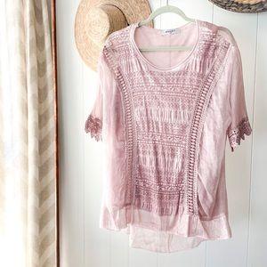 BAILEY sheer mauve blouse
